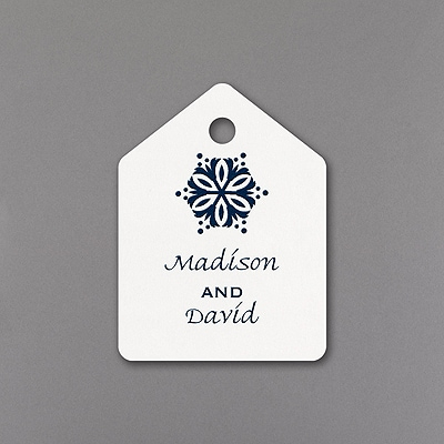 Snowflake Fantasy - Favor Tag - White