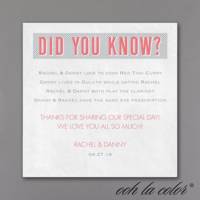 Did You Know? - Napkin