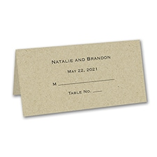 Place Card - Personalized - Kraft