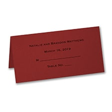 Place Card - Personalized - Claret