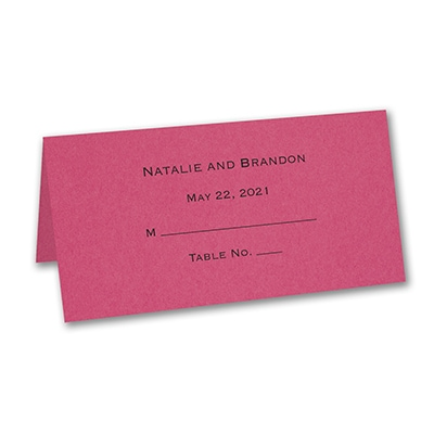 Place Card - Personalized - Fuchsia
