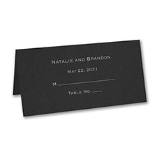 Place Card - Personalized - Black