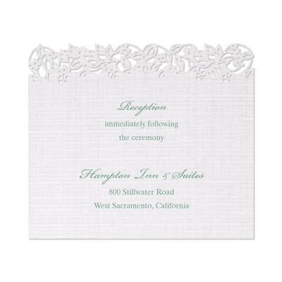 Linen Love Reception Card