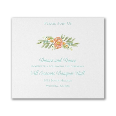 Watercolor Radiance Reception Card