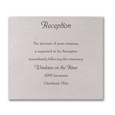 Rustic Wood - Reception Card
