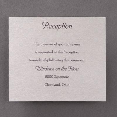 Rustic Wood - Reception Card