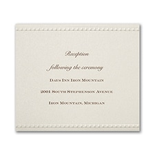 Vintage Pearls and Lace - Reception Card