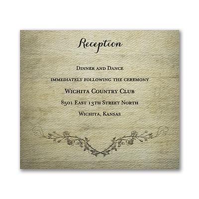 Rustic Charm - Reception Card