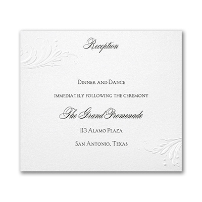 So Romantic - Reception Card