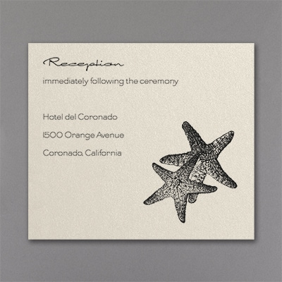Seaside Duet - Reception Card - Ecru Shimmer