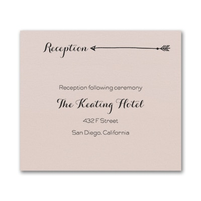 Tribute to Love - Reception Card - Pastel Coral Shimmer