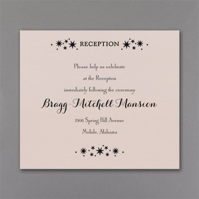 Enchanted Evening - Reception Card - Pastel Coral Shimmer