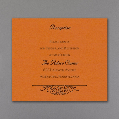 Regal Crest - Reception Card - Orange Shimmer