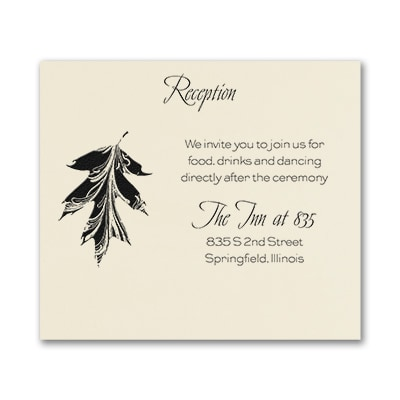 Leaf it to Romance - Reception Card - Ecru