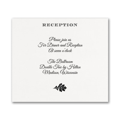 Endearing Romance - Reception Card - White