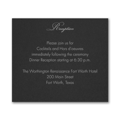 French Expressions - Reception Card - Black