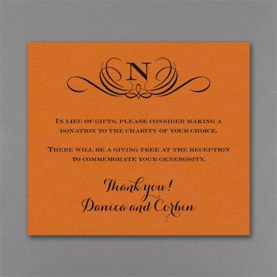 Preferential Design - Reception Card - Orange Shimmer