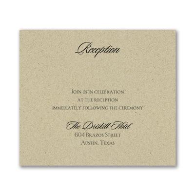 Serene Love - Reception Card - Kraft