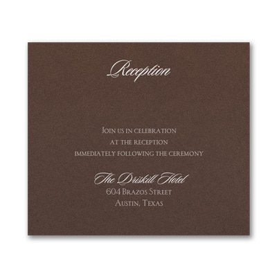 Serene Love - Reception Card - Mocha Shimmer