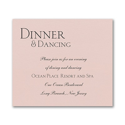 Sophistication - Reception Card - Pastel Coral Shimmer