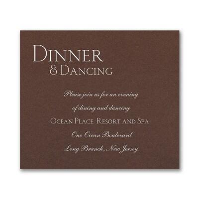 Sophistication - Reception Card - Mocha Shimmer