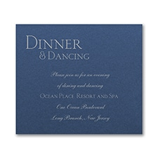 Sophistication Reception Card - Sapphire Shimmer