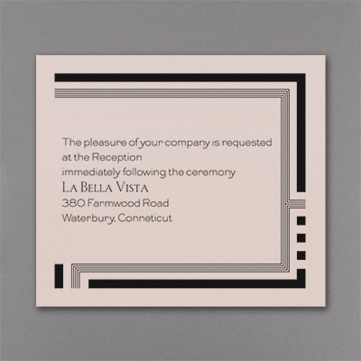 In Line - Reception Card - Pastel Coral Shimmer