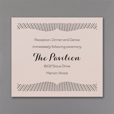 Stand Out - Reception Card - Pastel Coral Shimmer