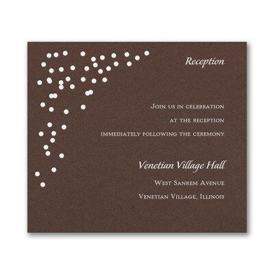 Celebration Dots Reception Card - Mocha Shimmer