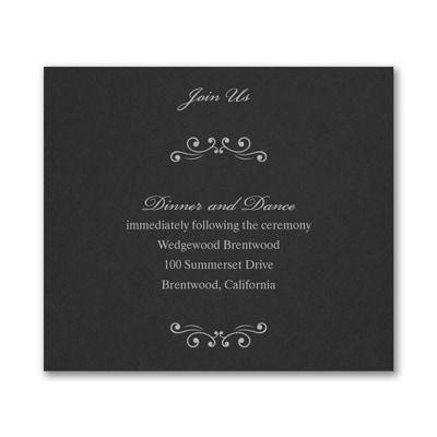 Wedding Bliss Reception Card - Black