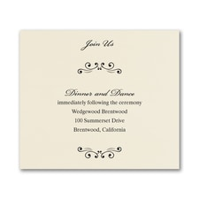 Wedding Bliss Reception Card - Ecru