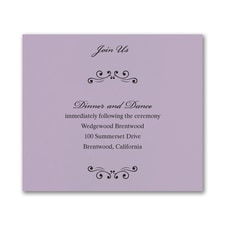 Wedding Bliss Reception Card - Lavender