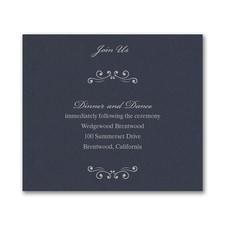 Wedding Bliss Reception Card - Navy