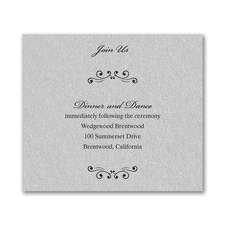 Wedding Bliss Reception Card - Silver Shimmer