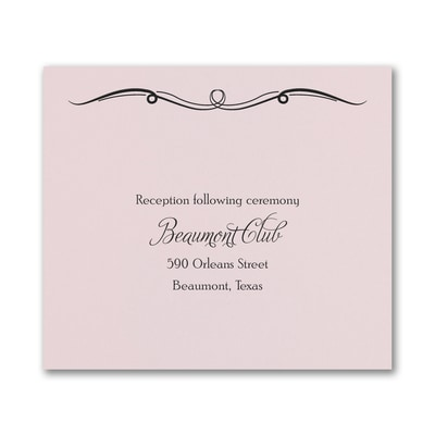 Love and Romance Reception Card - Pink