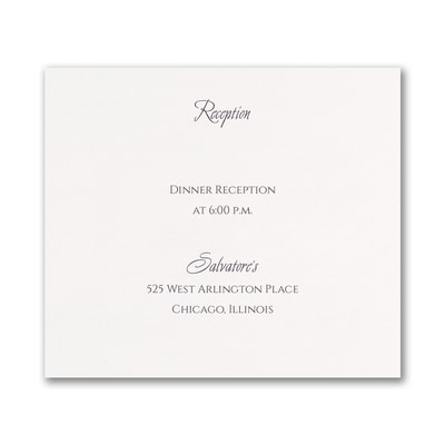 Geo Heart - Reception Card