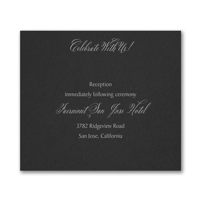 Regal Type Reception Card - Black