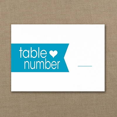 Hearts and Banners Table Number