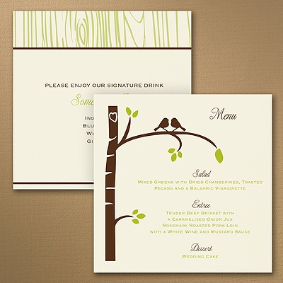 Birch Tree Love Menu - Square