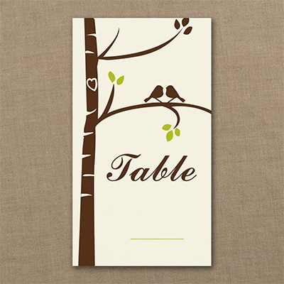 Birch Tree Love Table Number