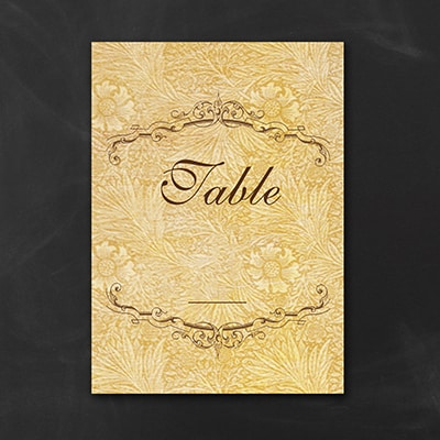 Florentine Tapestry Table Number