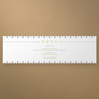 Deco Distinction Menu Wrap