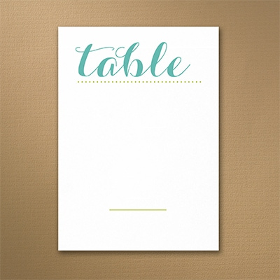 Alluring Style Table Number
