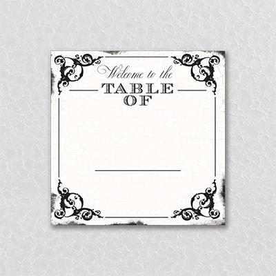 Antique Filigree Frame Table Number