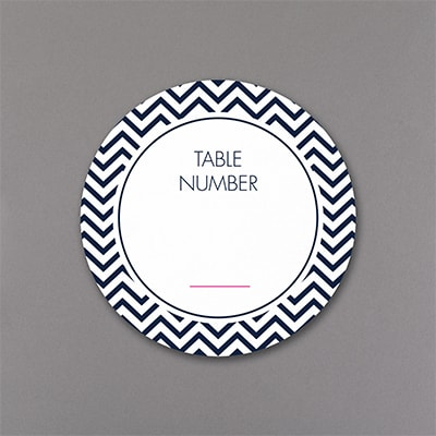 Cheers for Chevron Table Number