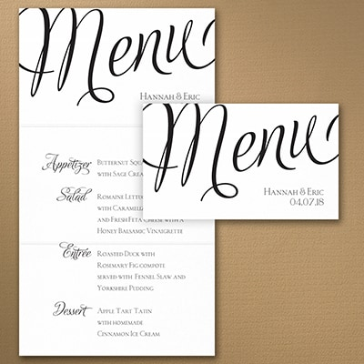 Distinctive Impressions Menu