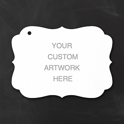 Custom Crest Favor Tag - Medium