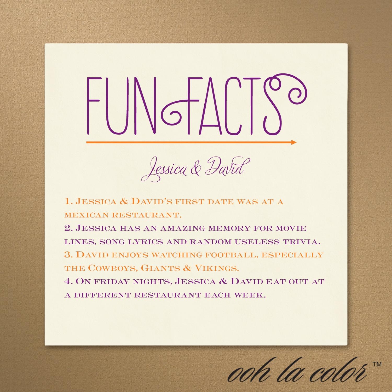Fun Facts Napkin Staples