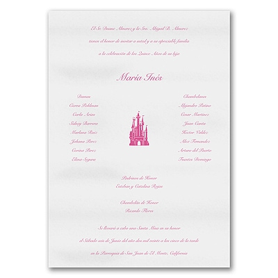Fit For A Princess - Invitation Scroll