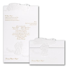 floral invitation: Married In Style